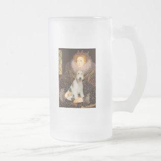 Reina Elizabeth I - fox terrier #1 del alambre Taza De Cristal