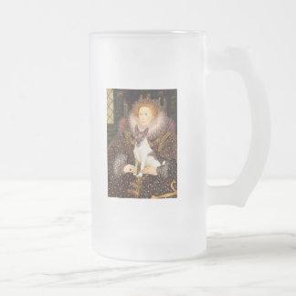Reina Elizabeth I - fox terrier (brwn-blanco) Taza De Cristal