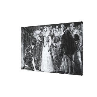 Reina Elizabeth I Francis Drake Knighting Impresiones En Lona