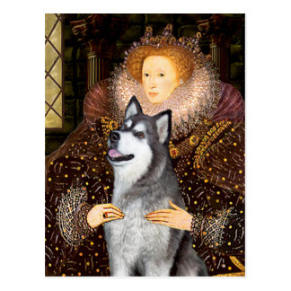 Reina Elizabeth I - Malamute de Alaska Postales