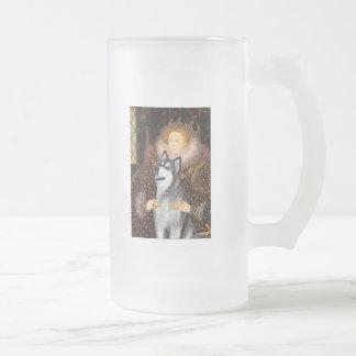Reina Elizabeth I - Malamute de Alaska Taza De Cristal