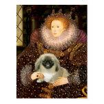 Reina Elizabeth I - Pekingese Postales