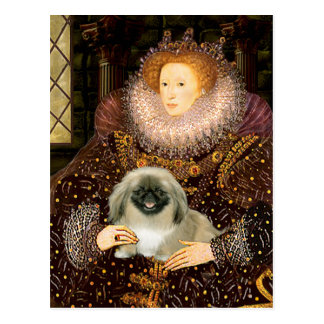 Reina Elizabeth I - Pekingese Tarjetas Postales