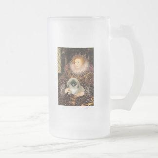 Reina Elizabeth I - Pekingese Taza De Cristal