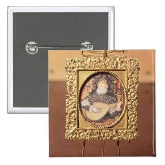 Reina Elizabeth I que toca el laúd (el incluir min Pin Cuadrada 5 Cm