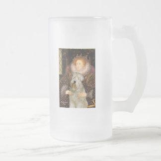 Reina Elizabeth I - Terrier de trigo Taza De Cristal
