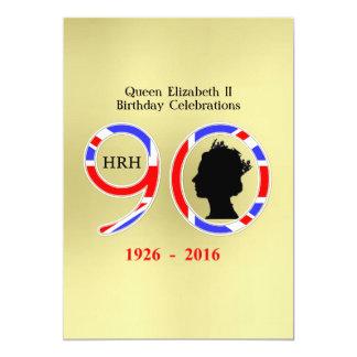 """Reina Elizabeth II del 90.o cumpleaños de Invitación 5"""" X 7"""""""