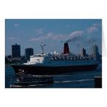 "Reina Elizabeth II del RMS"", revestimiento marino Tarjetas"
