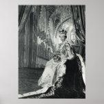 Reina Elizabeth II que lleva la regalía de la coro Poster