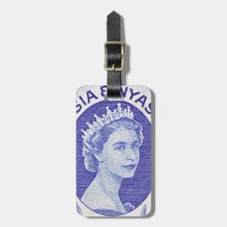 Reina Elizabeth II Rhodesia del vintage Etiqueta De Equipaje