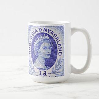 Reina Elizabeth II Rhodesia del vintage Taza De Café