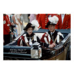 Reina Elizabeth II y príncipe Philip 1986 Póster
