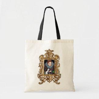 Reina Elizabeth y un bolso enmarcado armiño Bolsa Tela Barata