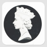 Reina Elizabzth II, Vivat Regina Pegatina Cuadrada