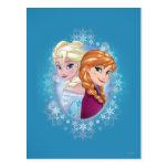 Reina Elsa y princesa Ana Postal