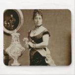 Reina Emma (1836-85) (fotografía de la sepia) Alfombrillas De Ratón