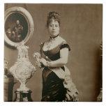 Reina Emma (1836-85) (fotografía de la sepia) Azulejo Cuadrado Grande