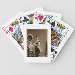 Reina Emma (1836-85) (fotografía de la sepia) Baraja Cartas De Poker