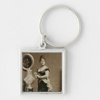 Reina Emma (1836-85) (fotografía de la sepia) Llaveros Personalizados