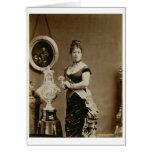 Reina Emma (1836-85) (fotografía de la sepia) Tarjeta De Felicitación