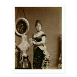 Reina Emma (1836-85) (fotografía de la sepia) Tarjetas Postales