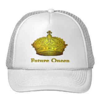 Reina futura con la corona en las camisetas, ropa  gorros bordados
