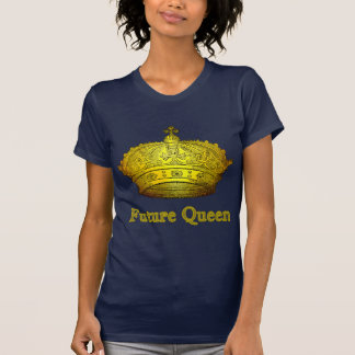 Reina futura con la corona en las camisetas, ropa remeras