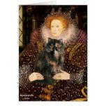 Reina - gato de calicó persa felicitación