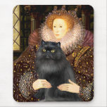 Reina - gato negro de Persiasn Tapete De Raton