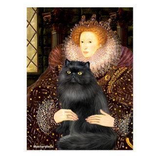 Reina - gato negro de Persiasn Postal