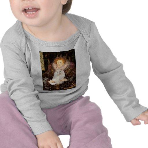 Reina - gato persa blanco camisetas