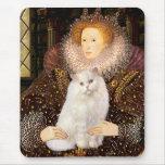 Reina - gato persa blanco tapete de raton