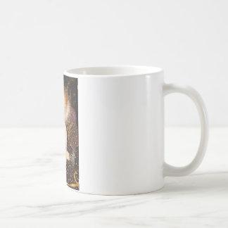 Reina - gato persa blanco tazas de café