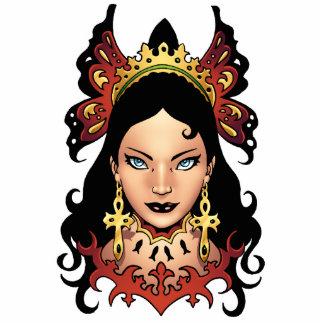 Reina gótica exótica con los pendientes de Ankh po Escultura Fotografica