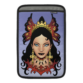 Reina gótica exótica con los pendientes de Ankh po Funda Para Macbook Air