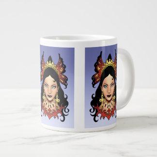 Reina gótica exótica con los pendientes de Ankh po Taza Extra Grande