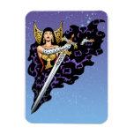 Reina gótica mágica con la espada enorme por el Al Imanes Rectangulares