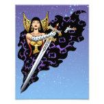 Reina gótica mágica con la espada enorme por el Al Impresión Fotográfica