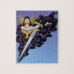Reina gótica mágica con la espada enorme por el Al Puzzle Con Fotos