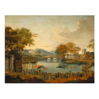 Reina Henrietta Maria con sir Jeffrey el Hudson, Tarjeta Postal