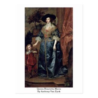 Reina Henrietta Maria de Anthony Van Dyck Postal