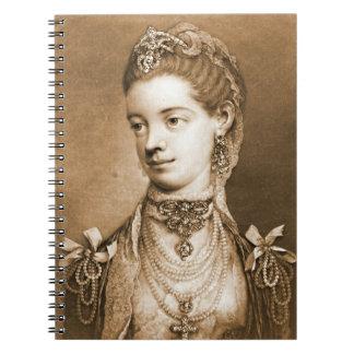 Reina inglesa Charlotte 1762 Cuadernos
