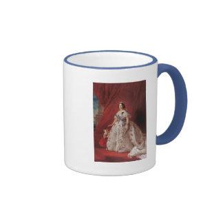 Reina Isabel II de España Taza De Dos Colores