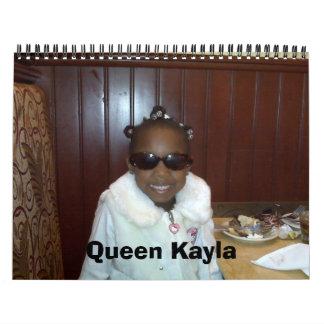 Reina Kayla y familia Calendarios