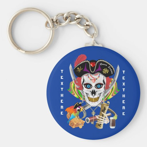 Reina Lafitte del pirata todas las indirectas de l Llavero Redondo Tipo Pin