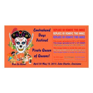 Reina Lafitte del pirata todas las indirectas de l Tarjeta Fotográfica Personalizada