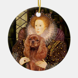 Reina Liz I - caballeros de rubíes Adorno De Navidad