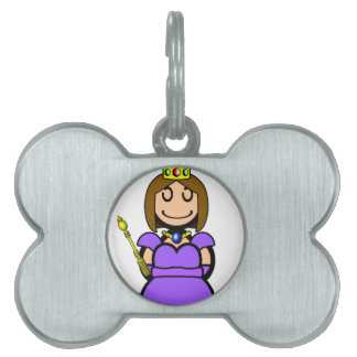 Reina (llana) placa mascota