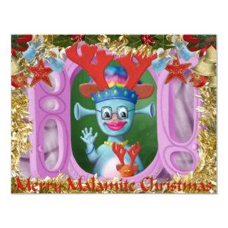 """Reina Mabel y Cedric. ¡Felices Navidad! Invitación 4.25"""" X 5.5"""""""