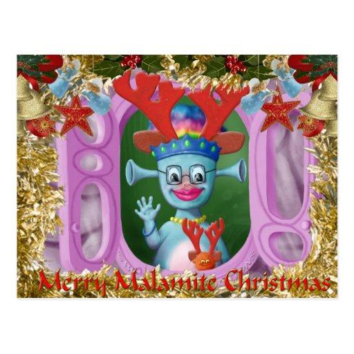 Reina Mabel y Cedric. ¡Felices Navidad! Postal